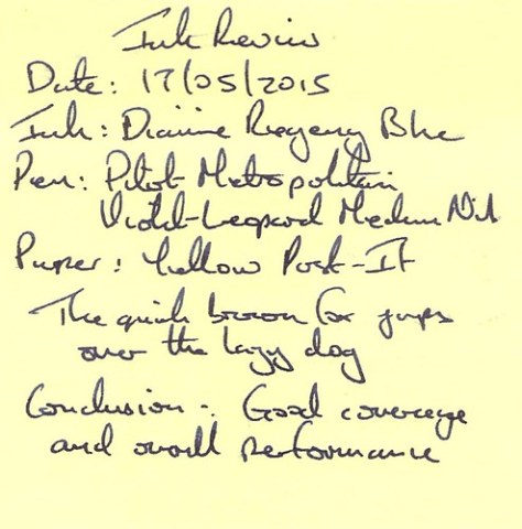 Diamine 150th Anniversary Regency Blue - Post-It