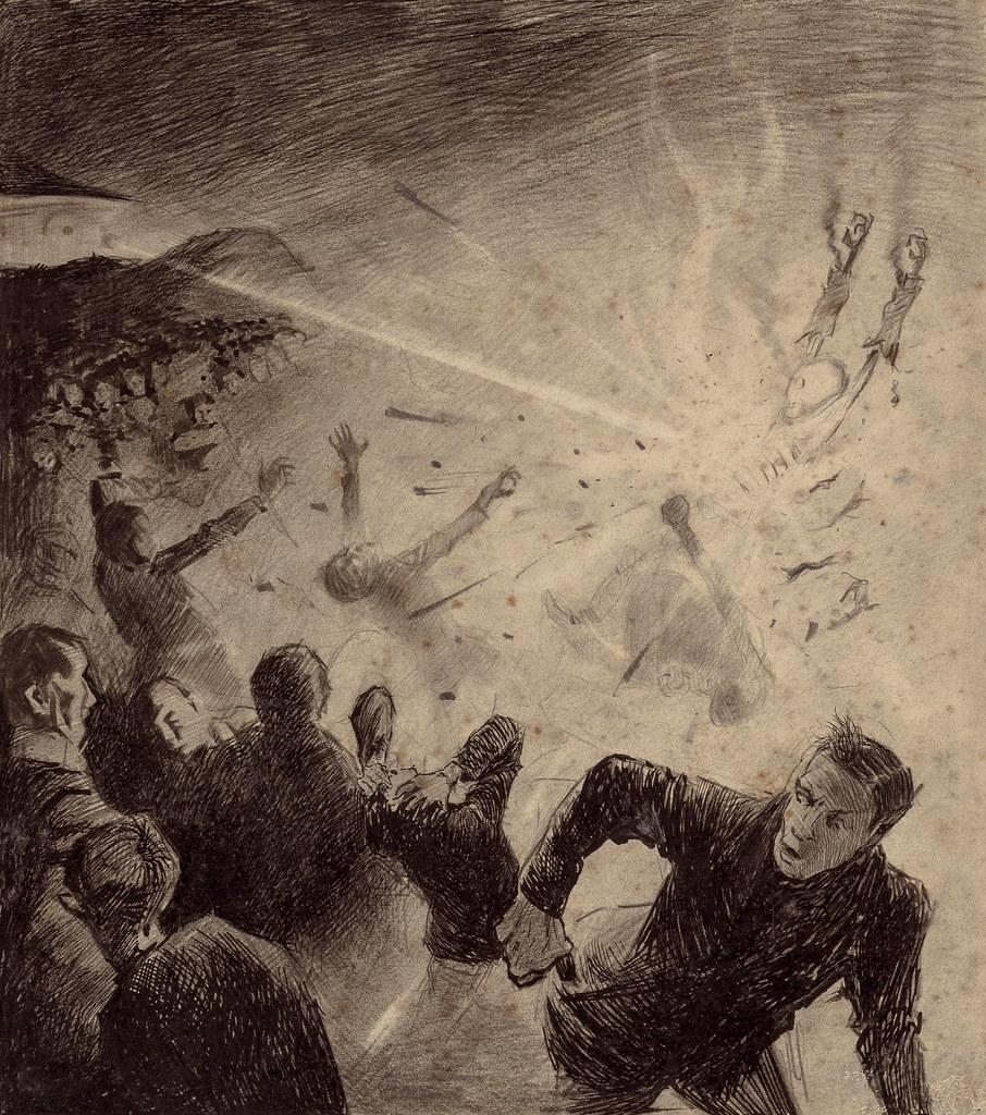 MONSTER BRAINS Henrique Alvim Correa War Of The Worlds Illustrations 1906