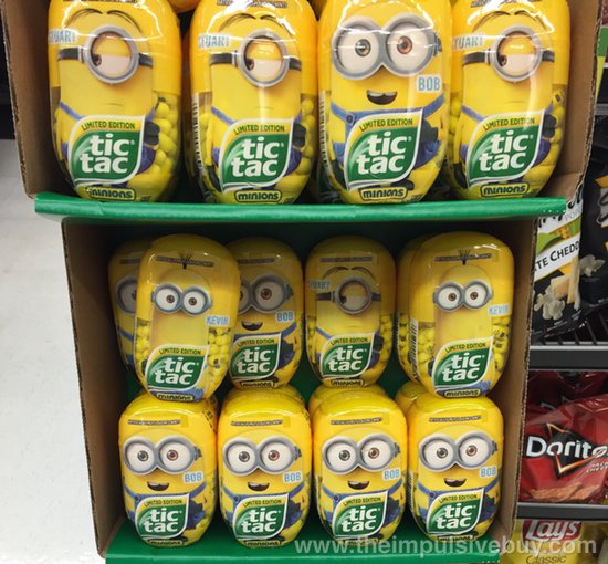 spotted on shelves limited edition tic tac minions the