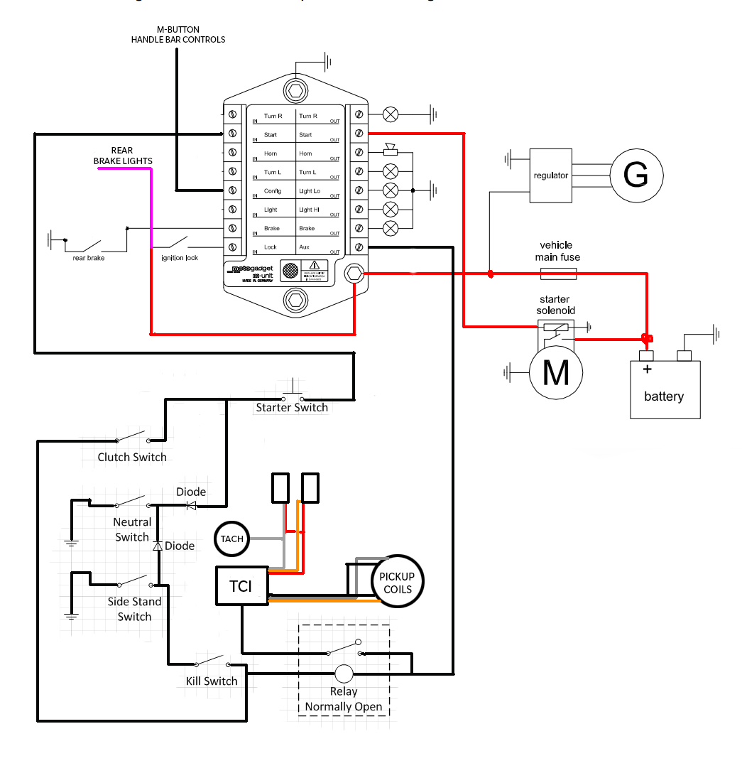 Yamaha V Max Electric Starting System Circuit Diagram