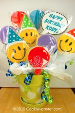 Happy face birthday bouquet