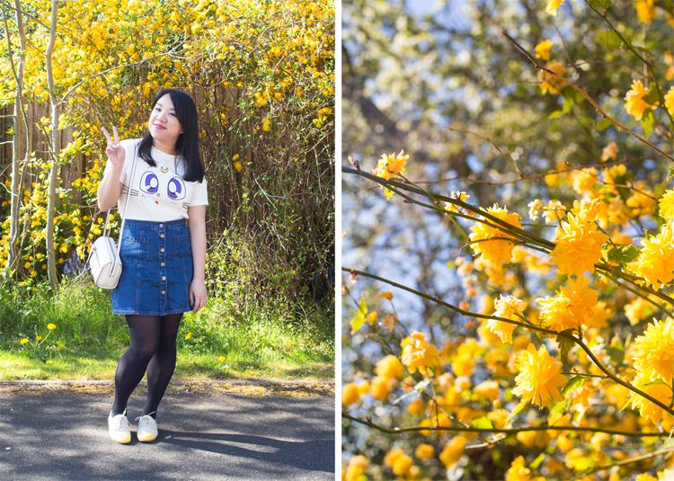 Artemis Sailormoon t-shirt and floral