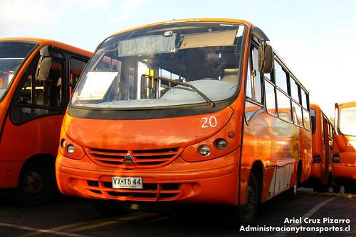 Transantiago (Archivo) - Redbus Urbano - Neobus Thunder / Agrale (VX1544)