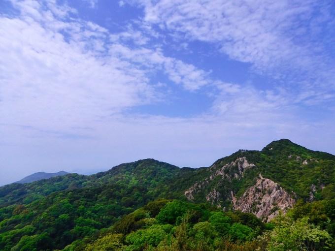 東山から見た須磨アルプス