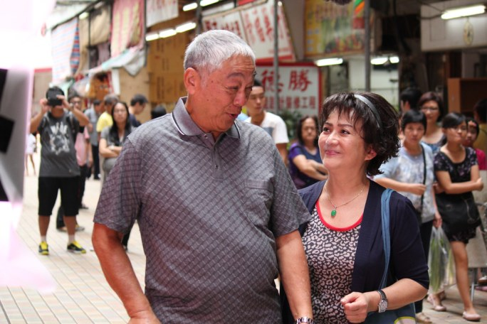 Ah-Oi (Fung) and her dad (Tsang) share a tender father-daughter moment.