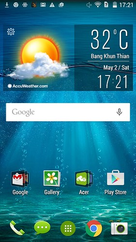 Home screen ของ Acer Liquid Z410