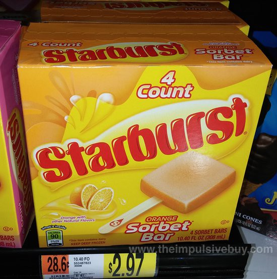 Starburst Orange Sorbet Bar