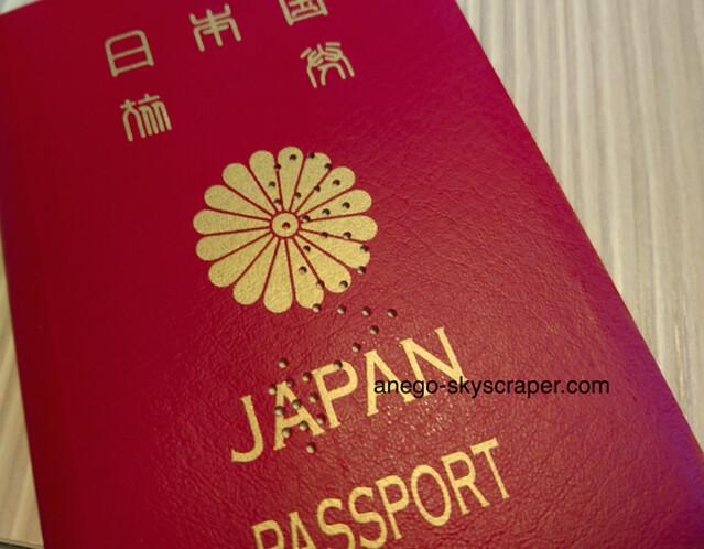 古いパスポート