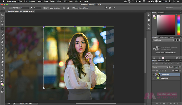 PhotoShop crop image