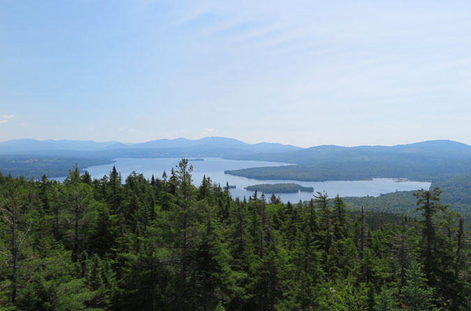 Bald Mountain Maine View Rangeley Lake