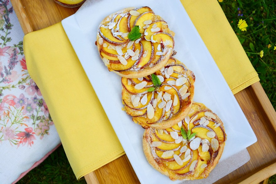 Peach and Marzipan Puff Pastry Galettes 6