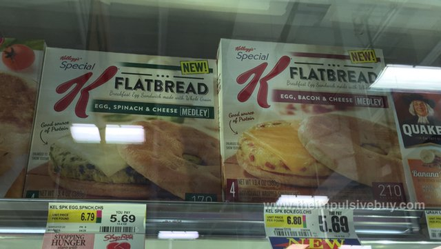 Kellogg's Special K Flatbread Breakfast Sandwiches (Egg, Spinach & Cheese Medley and Egg, Bacon & Cheese Medley)