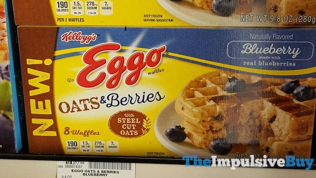 Kellogg's Blueberry Oats & Berries Eggo Waffles
