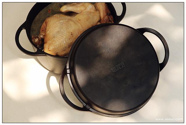 大古鐵器,鑄鐵鍋,雙耳湯鍋,食譜 @VIVIYU小世界