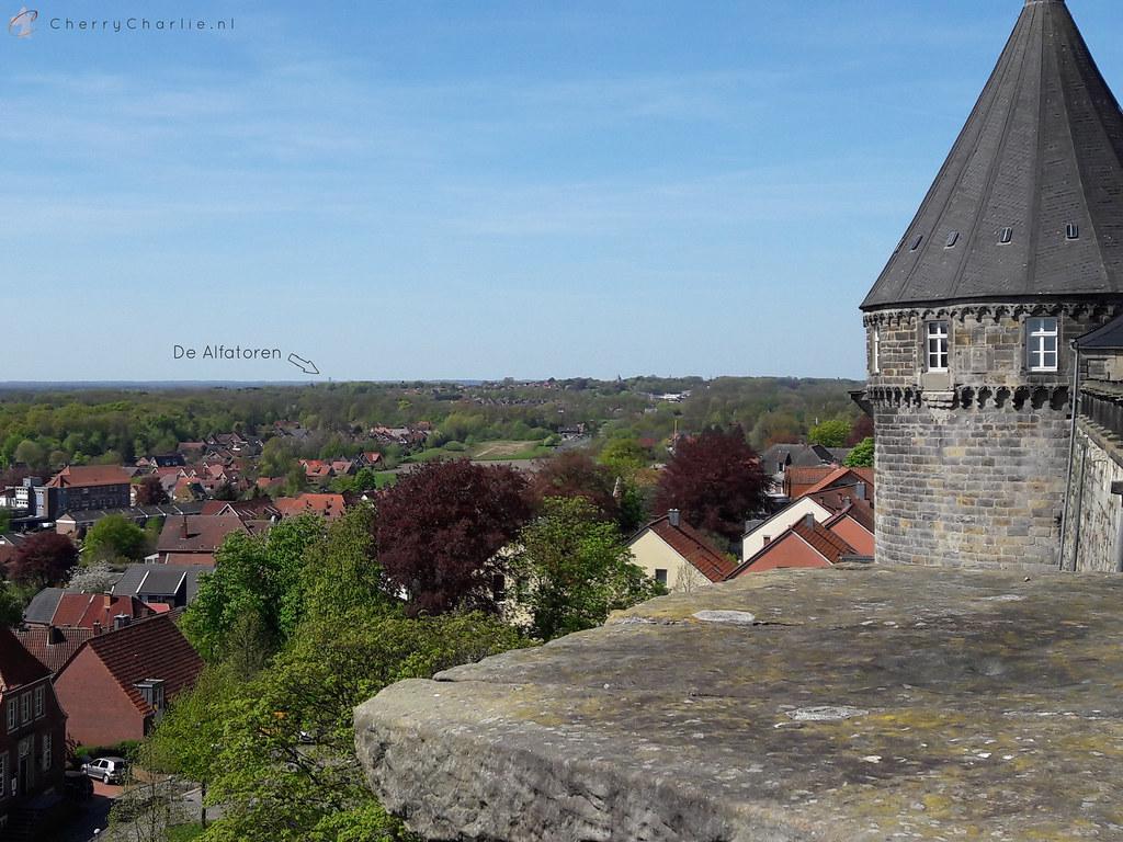 Enschede vanaf Schloss Bentheim
