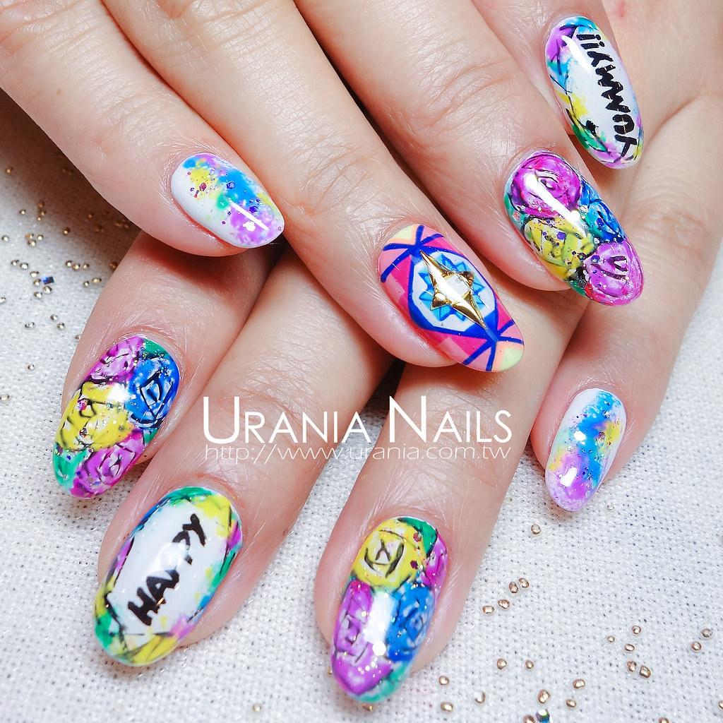 ♥ 指甲上的花花世界!花卉彩繪的指上藝術 3