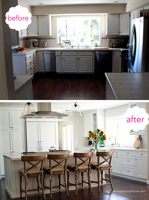 remodel kitchens kitchen cooking utensils beautiful white marble before and after