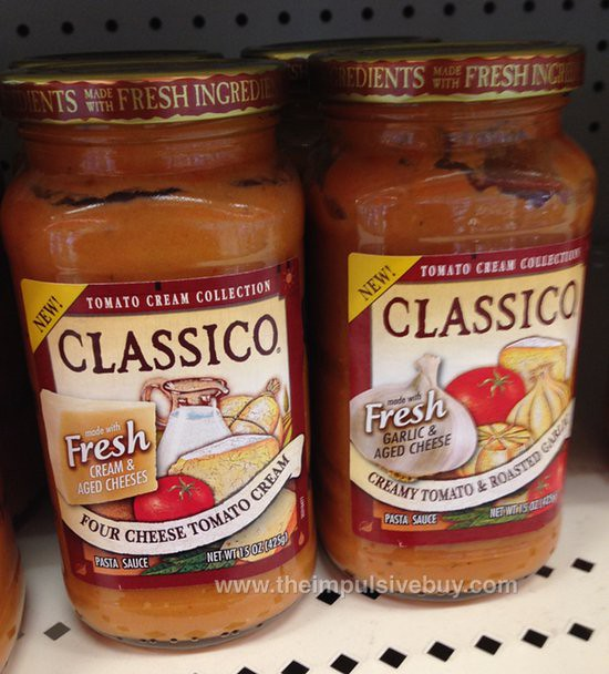 Classico Tomato Cream Collection Four Cheese Tomato Cream and Creamy Tomato & Roasted Garlic