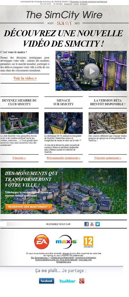 Newsletter SimCity