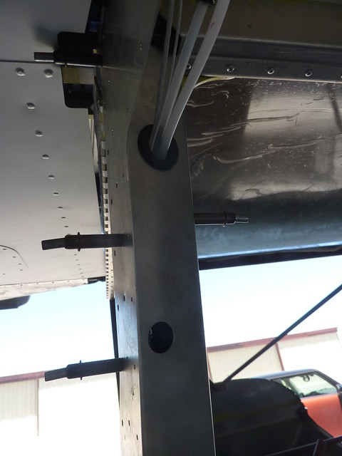 Pilot side cables going into cover