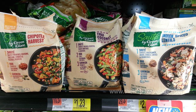 Chipotle Harvest, Thai Coconut, and Indian Spiced Lentils Sautes by Green Giant