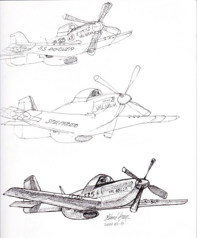 Valhalla Airplane Sketch