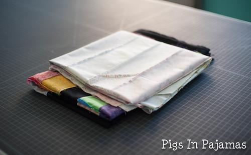 Pressed quilt tops