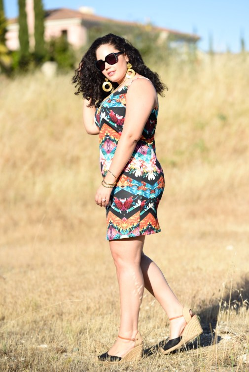 Mirror Print Dress, plus size fashion blogger