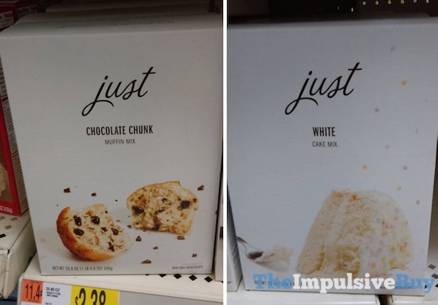 Just Chocolate Chunk Muffin Mix and White Cake Mix