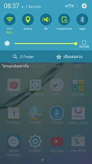 Notifications และ QuickSettings ของ Samsung Galaxy S6 edge