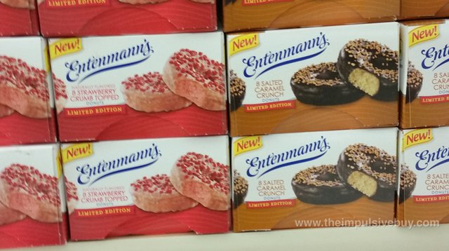 Entenmann's Limited Edition Strawberry Crumb Topped and Salted Caramel Crunch Donuts
