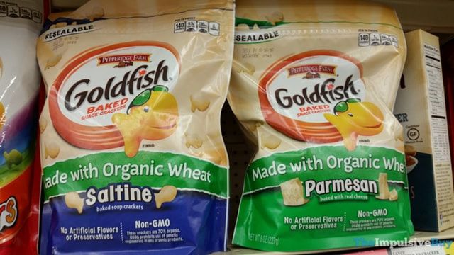 Pepperidge Farm Goldfish made with Organic Wheat (Saltine and Parmesan)
