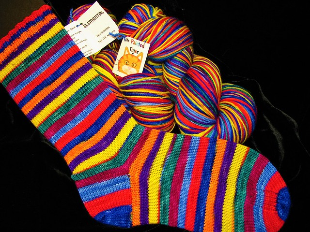 Elemental- Targhee Sock Yarn - Tiger Club April 2016