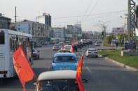 автопробег ретро-машин в Красноярске