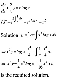 Plus Two Maths Chapter Wise Questions and Answers Chapter 9 Differential Equations 26