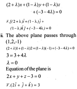 Plus Two Maths Chapter Wise Questions and Answers Chapter 11 Three Dimensional Geometry 50