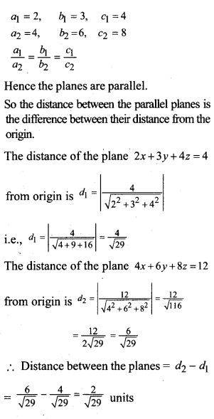 Plus Two Maths Chapter Wise Questions and Answers Chapter 11 Three Dimensional Geometry 34
