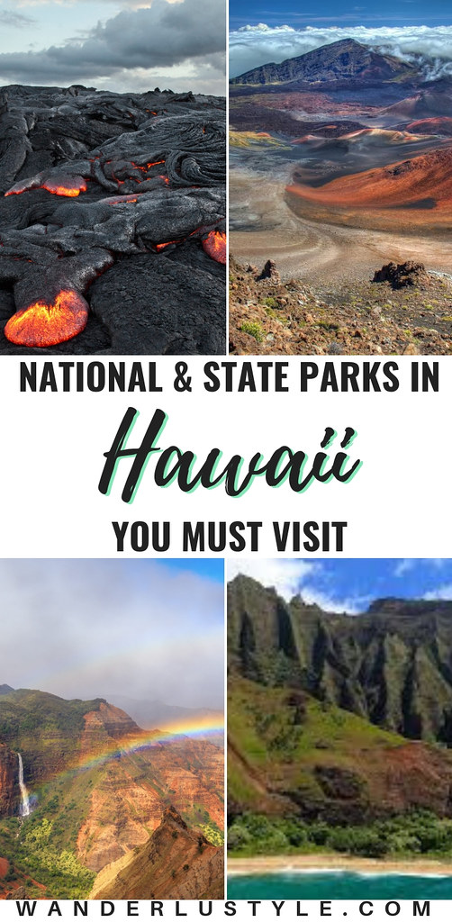 National and State Parks in Hawaii You Must Visit! HAWAII VOLCANOES NATIONAL PARK BIG ISLAND, HALEAKALA NATIONAL PARK MAUI, GRAND CANYON OF THE PACIFIC, NA PALI COAST STATE WILDERNESS PARK KAUAI, PEARL HARBOR | Wanderlustyle.com