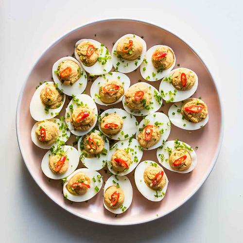 Keto Asian Deviled Eggs