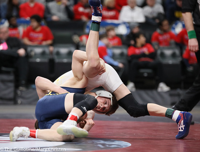 126AA 1st Place Match - Jake Svihel (Totino-Grace) 57-0 won by decision over Mitchel Petersen (Byron) 29-4 (Dec 7-3) - 190302BMC4306