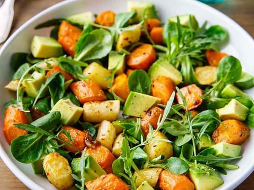 Keto Roasted Carrot And Avocado Salad