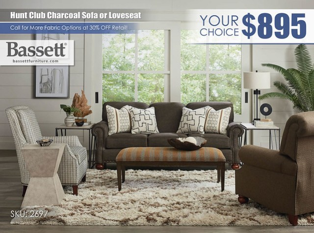 Hunt Club Charcoal Sofa or Loveseat Special_2697-62B-HuntClub-FA18