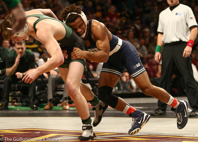 Quarterfinal - Mark Hall (Penn State) 24-0 won by fall over Drew Hughes (Michigan State) 24-12 (Fall 2:39) - 1903amk0305