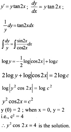 Plus Two Maths Chapter Wise Questions and Answers Chapter 9 Differential Equations 5
