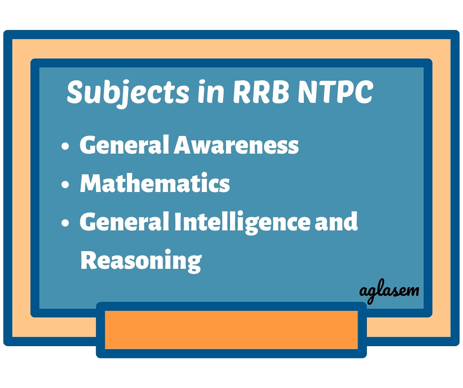 RRB NTPC Subjects in CBT 2021