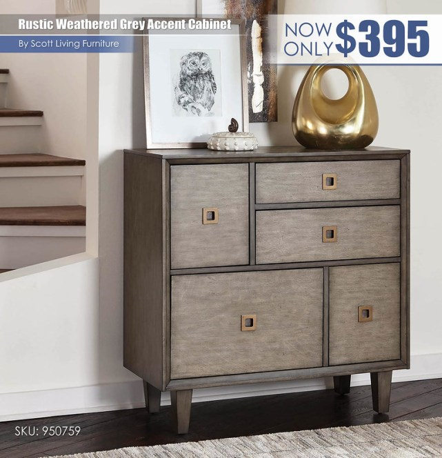 Rustic Weathered Grey Accent Cabinet_Scott Living_950759