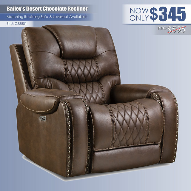 Bailey Desert Chocolate Recliner_C88801