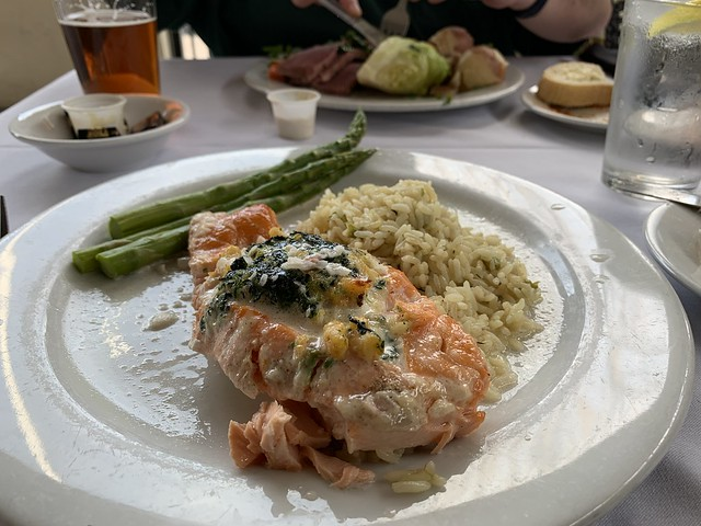 Stuffed salmon at Sweeney's
