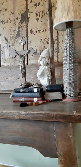 Decoratiekwasten kruisbeeld rieten schemerlamp