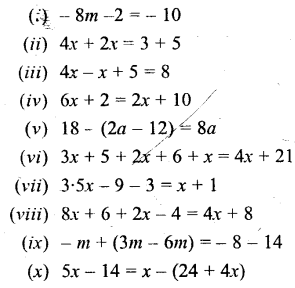 Selina Concise Mathematics Class 6 ICSE Solutions - Simple (Linear) Equations (Including Word Problems) - b3